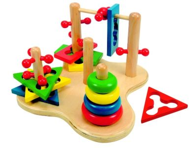 Dřevěná didaktická hračka