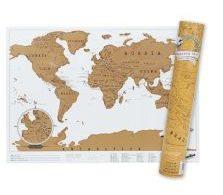 Stírací mapa světa na zeď
