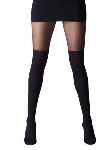 Černé nadkolenky - sexy punčocháče