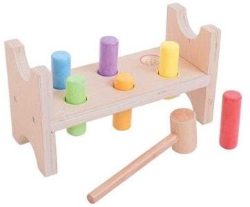 Bigjigs dřevěná zatloukačka – didaktická hračka pro holky i kluky