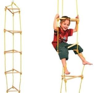 Dřevěný provazový žebřík woody pro kluky i holky