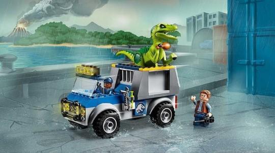 LEGO Juniors 10757 Jurský svět Raptor Rescue Truck - lego dárek