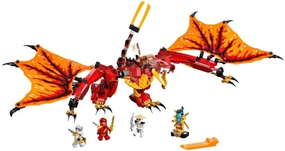 Lego Ninjago - útok ohnivého draka