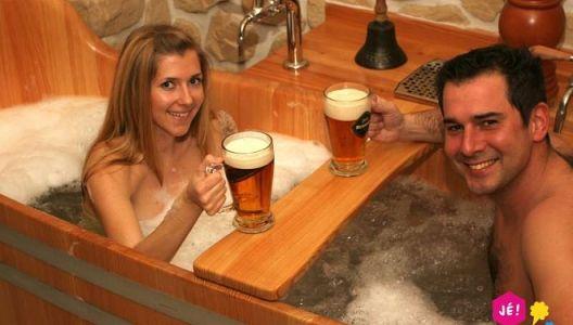 Pivní lázně vPraze pro dva