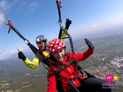 Tandemový paragliding – vyhlídkový let v Beskydech