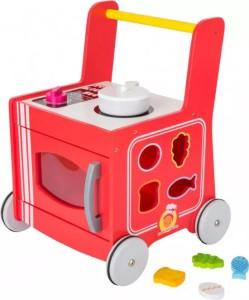 Dřevěné chodítko červená kuchyňka – edukativní hračka pro nejmenší