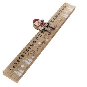 Dřevěný adventní kalendář