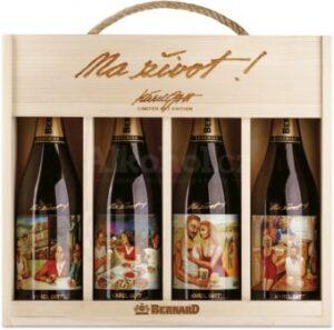 Pivní dárek - Dárkové balení piv s etiketami od Karla Gotta
