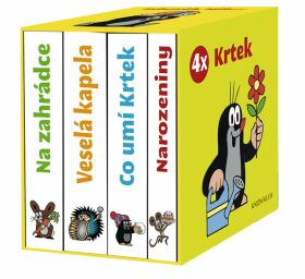 4x Krtek – dárkový box (komplet) – leporelo pro miminka