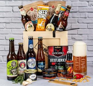 Dárková dřevěná bedna pro milovníka piva – dárek vhodný pro kolegu na rozloučenou