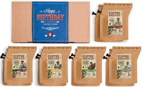 Dárkové balení Grower´s cup k narozeninám – dárkové balení kávy pro muže kafaře