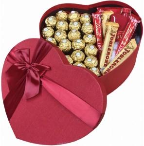 Dárkový box ve tvaru srdce pro muže Red Label whisky – sladké překvapení nejen pro dědečka