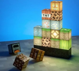 Minecraft lampička pro dobrou noc
